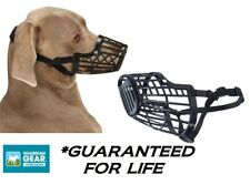 LARGE DOG HeavyDUTY BASKET MUZZLE Quick Fit/Release Adjustable Training Safety