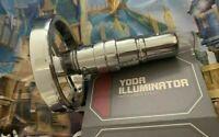 Disneyland Star Wars Galaxy's Edge Yoda Illuminator Lamp Light + Wisdom Token