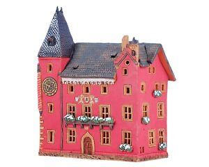 Ceramic Tealight Holder Collectible Miniature Alsatian Museum in Haguenau 18 cm