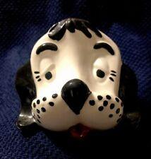 Vintage Arnels DOG EYEGLASS HOLDER Black White Ceramic