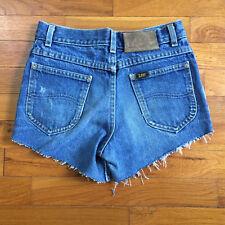vtg Lee High Waisted Mom Denim Short women 24 jeans Festival made in usa 2668