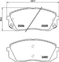 Mintex Front Brake Pad Set MDB3166  - BRAND NEW - GENUINE - 5 YEAR WARRANTY