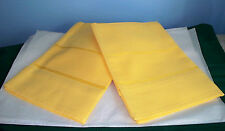 LOT OF 2 NEW MILANO CROSS STITCH KITCHEN TOWELS SUNFLOWER YELLOW 14 COUNT