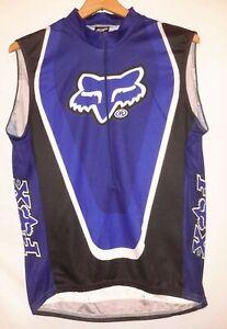Fox Racing Mountain Bike Cycling Jersey vest sleeveless vtg biking (Large)