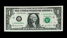 2003A $1 SUPER FANCY SER# 60000066 - FLIPPER - SUPERB GEM NEW - BEAUTIFUL