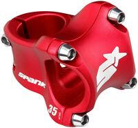 "Spank Spike Race 2 Stem - 35mm 31.8 Clamp +/-0 1 1/8"" Aluminum Red MTB"
