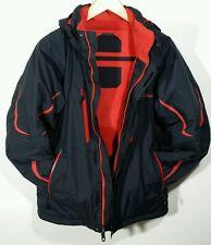 LL BEAN Snowboarding Ski Waterproof Windproof Jacket Mens MEDIUM in Black / Red