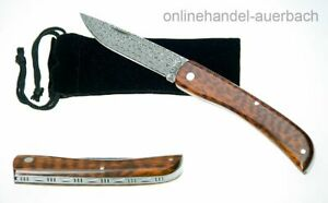 HALLER Damast Schlangenholz Taschenmesser Klappmesser Messer