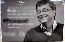 """20""""X30"""" Computer Museum Graphic  Panel of Bill Gates Ships Worldwide"""