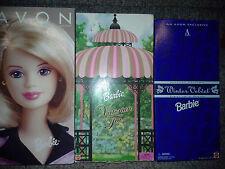 Barbie Avon Representative Victorian Tea Winter Velvet 3 Exclusive Dolls NEW