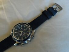 Blue Leather Watch Strap for Omega Seamaster Speedmaster Quick Release pins 20mm