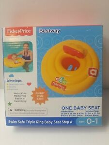 NEW Fisher Price Swim Safe Triple Ring Baby Seat Step A Diaper Style Seat