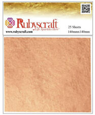 Copper Leaf 100 Genuine 25 Sheets - Large Craft and Arts 14cmx14cm Try Gold