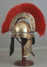 Collectible Roman Rome HBO Helmet With RED Plume Halloween Costume With Stand