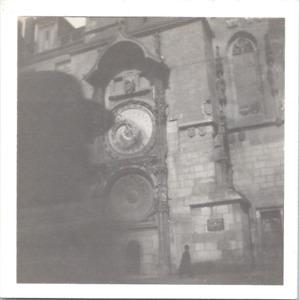 République Tchèque, Prague, horloge des Apôtres Vintage print,  Tirage argenti