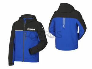Genuine Yamaha 20 Paddock Blue Men's Black & Blue Outerwear Waterproof Coat