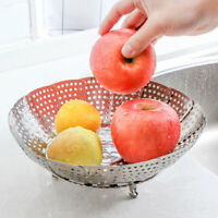 Stainless Steel Steaming Basket Folding Food Egg Dish Basket Cooker Steamer