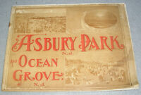 Antique Asbury Park and Ocean Grove New Jersey NJ Town Views Photo Book c. 1905