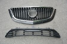 Chrome Front &Lower Bumper Grill Grille Assembly  For Buick Envision 2016-2017