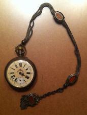 Montre à Gousset et Chatelaine en argent. Old French Pocket Watch & Silver Chain