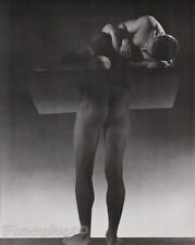 1935/81 Vintage SURREAL MALE NUDE Butt Duotone Photo By GEORGE PLATT LYNES 16x20