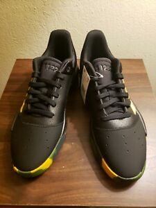 Adidas Pro Adversary Low 2 Casual Basketball Shoes Black Leather EF0488 Siz 10.5