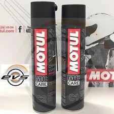 Grasso Catena MOTUL C2 Chain Lube Road Moto Strada Kart + C1 Chain Clean Sgrassa