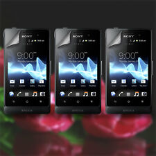 Lot 3X Clear Screen Protector Film Guard + Cloth Set for Sony Xperia Go ST27i