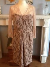 BERKERTEX  NUDE LACE  DRESS  MOTHER OF THE BRIDE PARTY UK 12