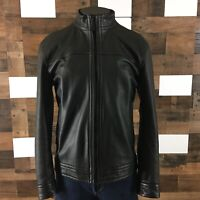 Robert Graham Sheep Leather Jacket Sz Large Mens  Full Zip Up Black Classic Fit