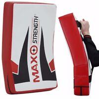 Thai Kick Boxing Strike Shield Curved Pad Arm MMA Focus Muay Punch Mitt Sports