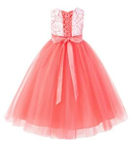 Lace Tulle Tutu Flower Girl Dress Pageant Dress Ball Gown Formal Dress Christmas