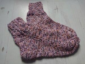 Handmade Socks size 5-6UK or 38/39EU /24cm Multi-Coloured