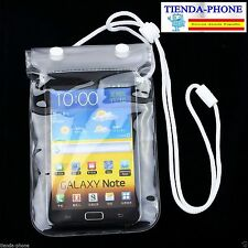 "Funda Movil Impermeable Acuatica Bolsa doble cierre Hasta 6"" PARA IPHONE SAMSUNG"