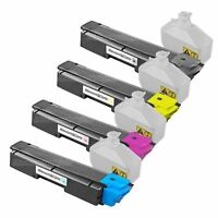 4PK TK592 BLACK COLOR Toner for Kyocera Mita M6526cdn P6026 FS-C2126MFP FS-C2526