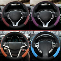 1pc Car Steering Wheel Cover Anti-slip Protector Fit 38cm Artificial Leather