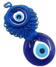 Nazat boncuk colgaduras 15cm vidrio remolque decorativas Evil Eye azul ojos nz35