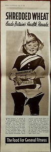 Shredded Wheat Leads Britain's Health Parade Food for General Fitness Ad 1937