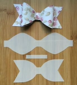 Hair Bow Making Template Stencil 3 pieces BUN French Pleat Bow for Hair