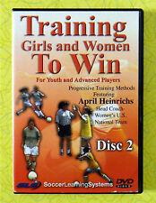 Training Girls/Women To Win Disc 2  Soccer Instruction DVD Video April Heinrichs