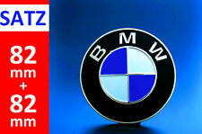BMW Emblem SET 2x82mm 2 Pin Front Hood + Rear Truck Logo Badge Decal 51148132375