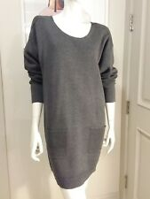 100% authentic lacoste sweater dress gray  front pockets sz S 4 NWT