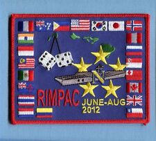 CVN-68 USS NIMITZ RIMPAC 2012 US NAVY Ship Squadron Cruise Jacket Patch