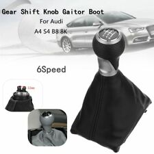 6 Speed Gear Shift Knob Gaiter Boot PU Leather For Audi A4 S4 B8 8K A5 S-Line