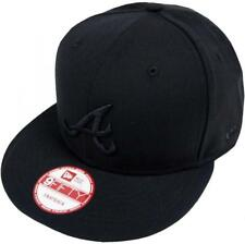 NEW Era Mlb Atlanta Braves black on black snapback cap 9 FIFTY Limited Edition