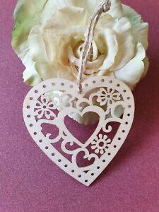 Corte Láser Intrincados Corazón para Colgante - Madera Capa - Rústico, Valentín,