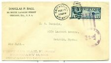 1926 CAM FLIGHT COVER 7E3a CHICAGO TO DETROIT, C7  FDC 2/13/26, FORD MOTOR CO.