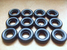 DINKY TYRES X 12. 17mm dia SMOOTH BLACK