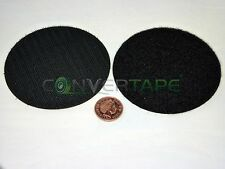 Self Adhesive Sticky Backed Hook Loop Fastener Tape Dots Circles Black 33mm