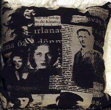 "Decorative Throw Pillows 2 Movie Classics Home Theature Black White 16"" sq SALE!"